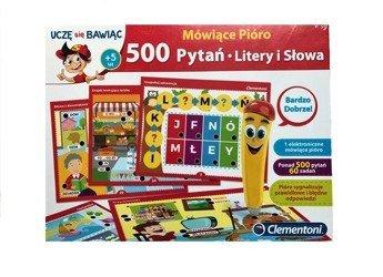 79debd57c0534 Clementoni 500 Pytań Mówiące Pióro Litery i Słowa