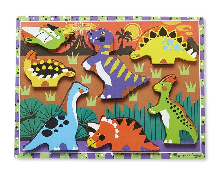 Melissa And Doug Drewniane Puzzle Dinozaury Dinozaury Do Zabawy