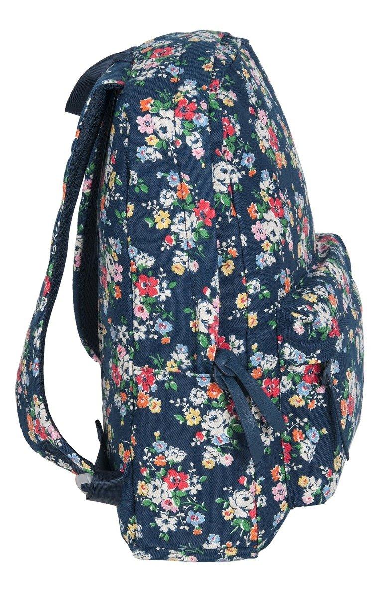 b33ba7fb750bb ... PASO Lekki Plecak Szkolny Młodzieżowy 17-223B Granatowy Kwiaty ...