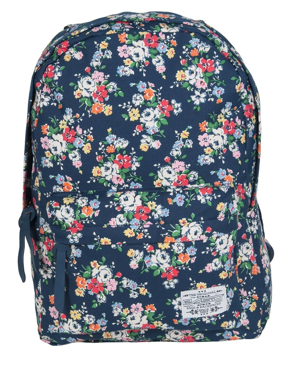 0f23b52eb4d2a PASO Lekki Plecak Szkolny Młodzieżowy 17-223B Granatowy Kwiaty ...