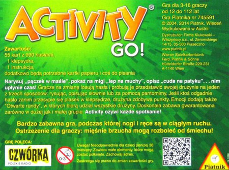 Activity Go! - Karciana Gra Podróżna